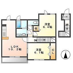 サンリットハウス[2階]の間取り