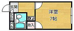 コーポ竹[2階]の間取り