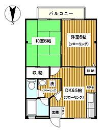 神奈川県横浜市鶴見区馬場1丁目の賃貸マンションの間取り