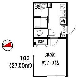 新築 Jure Kagurazaka[103号室号室]の間取り