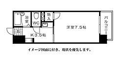 ジャスティヒルト高須[302号室]の間取り