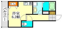 V-room1[202号室]の間取り