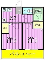 フォーレ新松戸[2階]の間取り
