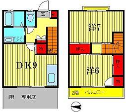 [テラスハウス] 東京都葛飾区水元4丁目 の賃貸【/】の間取り