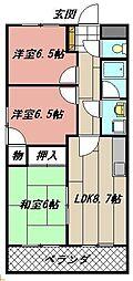 サンローゼ本城東[2階]の間取り