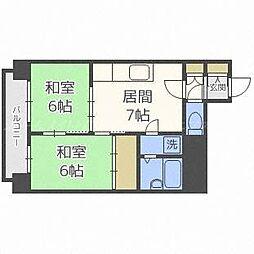 第2井川ハイツ[2階]の間取り