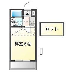 ジュネパレス津田沼A−2[2階]の間取り