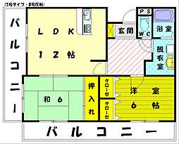パシオンアネックス[2階]の間取り