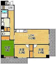 サイト安朱[302号室号室]の間取り