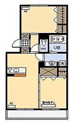 セジュールHIYORI2[2階]の間取り