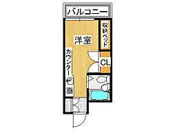 大阪府大阪市浪速区大国3の賃貸マンションの間取り