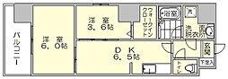 モダンパラッツォ博多駅南2[10階]の間取り