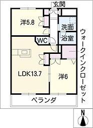 メゾン上名古屋[4階]の間取り