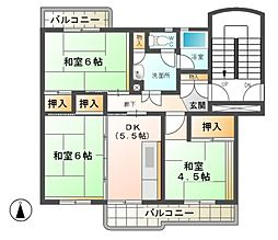 愛知県稲沢市井之口大坪町の賃貸マンションの間取り
