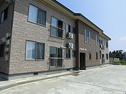 秋田県横手市三本柳字街道下の賃貸アパートの外観