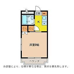 徳島県徳島市北常三島町3丁目の賃貸マンションの間取り