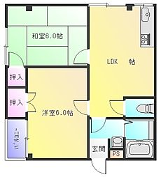 Rinon東山本新町[3階]の間取り