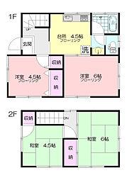 [一戸建] 神奈川県横浜市青葉区もえぎ野 の賃貸【/】の間取り