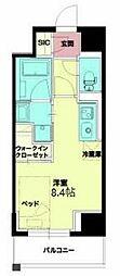 Osaka Metro千日前線 西長堀駅 徒歩5分の賃貸マンション 3階ワンルームの間取り