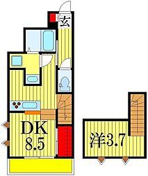 R-Style NS 1階1DKの間取り