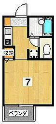 クレール大宮[2階]の間取り