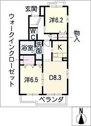 リバーサイドビレッジ[1階]の間取り