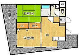冨尾マンションIII[1階]の間取り