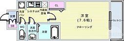 Osaka Metro千日前線 阿波座駅 徒歩6分の賃貸マンション 8階1Kの間取り