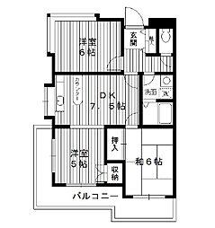 東京都練馬区小竹町の賃貸マンションの間取り