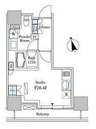 東京都港区芝浦4丁目の賃貸マンションの間取り