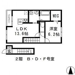 ラガール[2階]の間取り