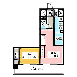 Passaggio Higashibetsuin[10階]の間取り