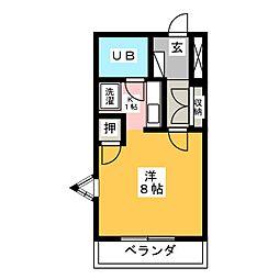 ハイツ久後崎[3階]の間取り