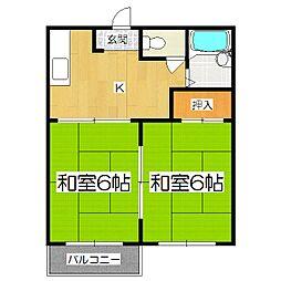 サニーヒル日ノ岡[1階]の間取り
