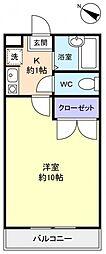 パレスオリーブB[3階]の間取り