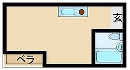 ビバハイツ武庫之荘[1階]の間取り
