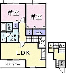 M・KマンションpartI[0202号室]の間取り