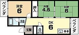三栄ハイツ[2階]の間取り