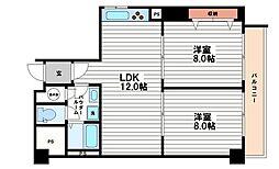 大阪府大阪市中央区安土町1丁目の賃貸マンションの間取り