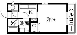 ワンズ竹亭[2階]の間取り