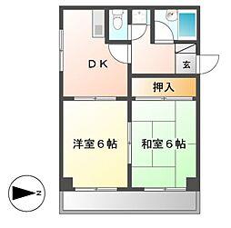 ライフステージ徳川[5階]の間取り