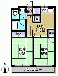ドエルウーチ[4階]の間取り