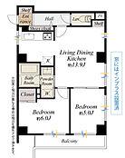 間取図/2階部分南西・南東角部屋、平成29年4月リフォーム済