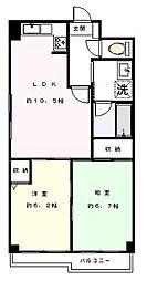JINマンション[301号室]の間取り