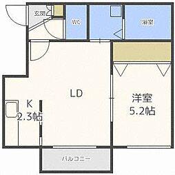 ブランノワールMIKEOS[2階]の間取り