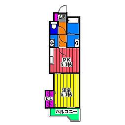 レジデンス御笠I[2階]の間取り