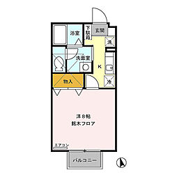 パインブリッジ稲里(稲里町中央)C棟[202号室号室]の間取り
