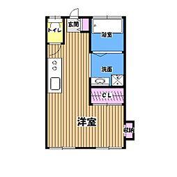 大楽寺田口ハイツ[1階]の間取り
