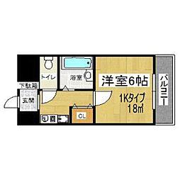 イマザキマンション エヌ・ワン[6階]の間取り
