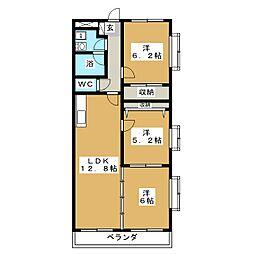 フォルスコート[3階]の間取り
